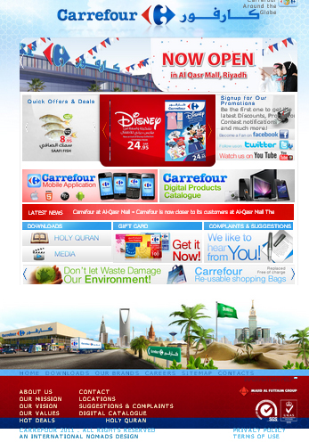 Carrefour Website