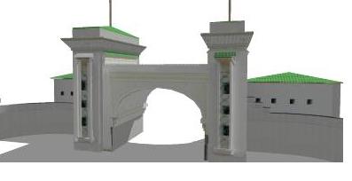 Khuzam Palace Gate Jeddah 3D