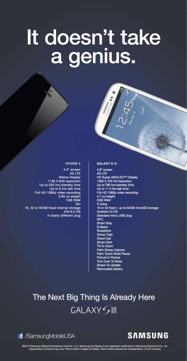 Samsung Attacks iPhone5 it doesn't take a Genius