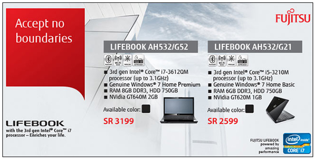 Fujitsu Lifebook Laptops at Jarir