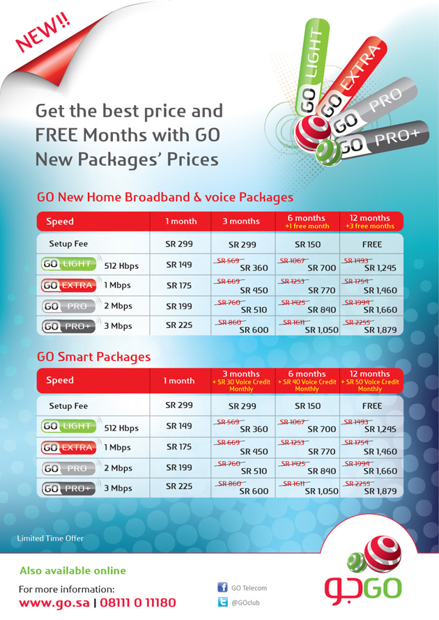 GO internet unbeatable Discounted Prices