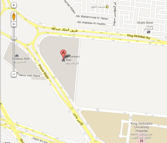 Al Salaam Mall Jeddah Location / Map