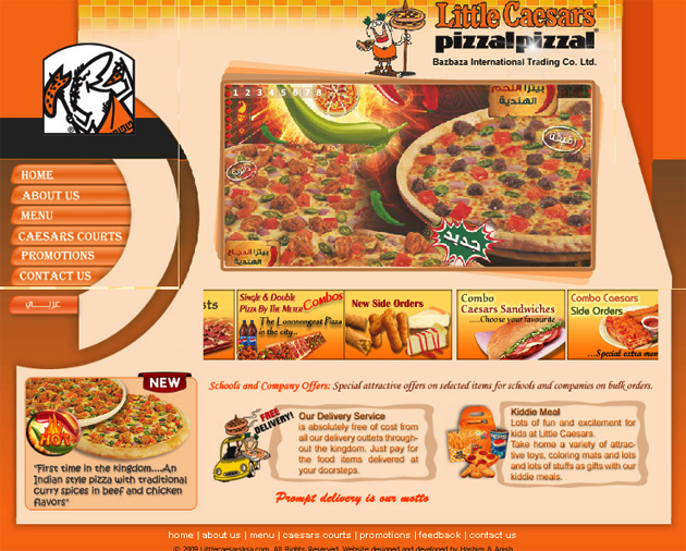 Little Caesars Website