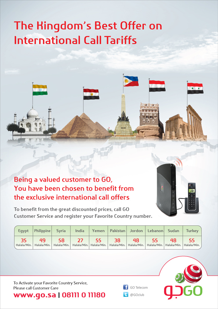 The Best International Calls' Tariff  - Go Telecom