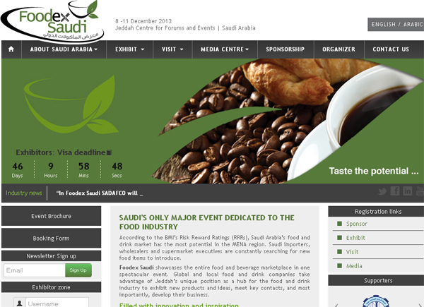Foodex Saudi Website