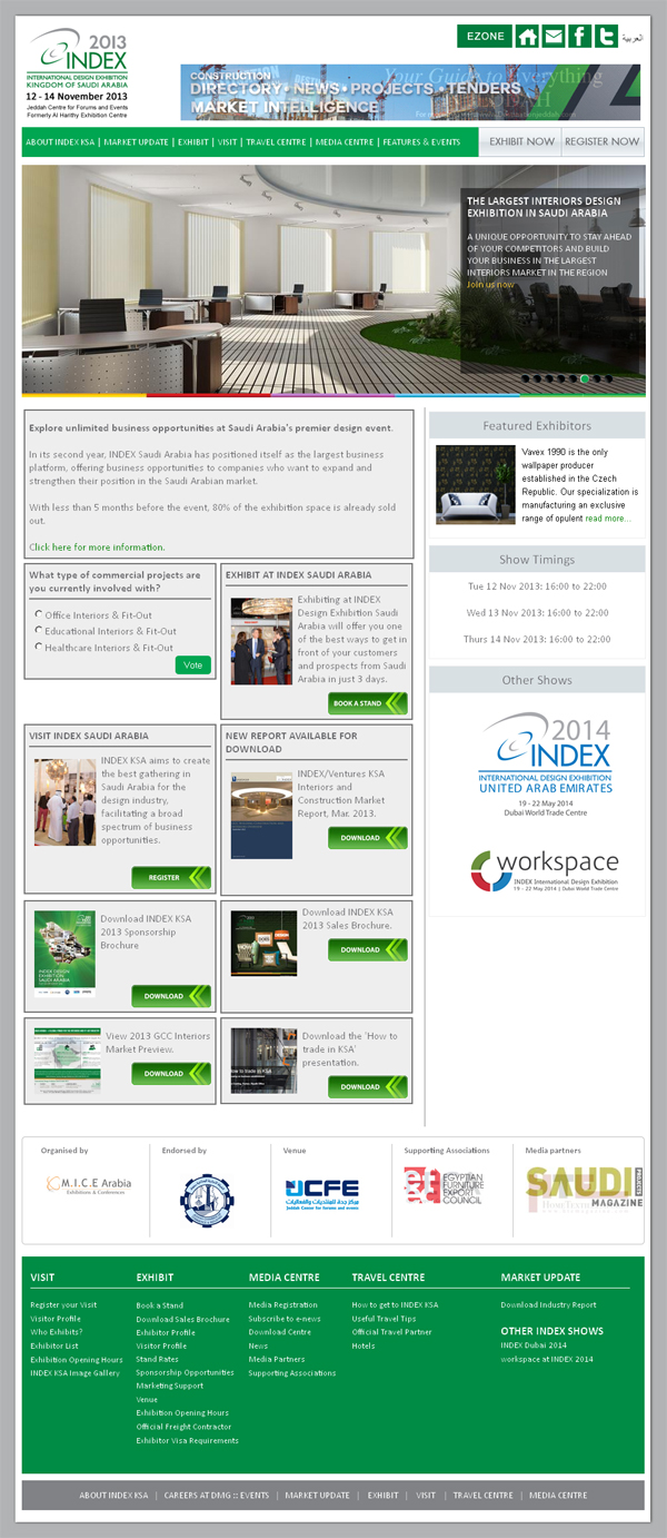INDEX KSA Exhibition 2013 jeddah website