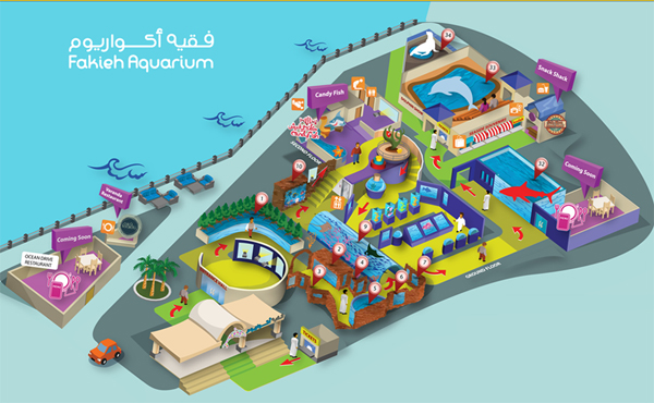 fakieh aquarium map