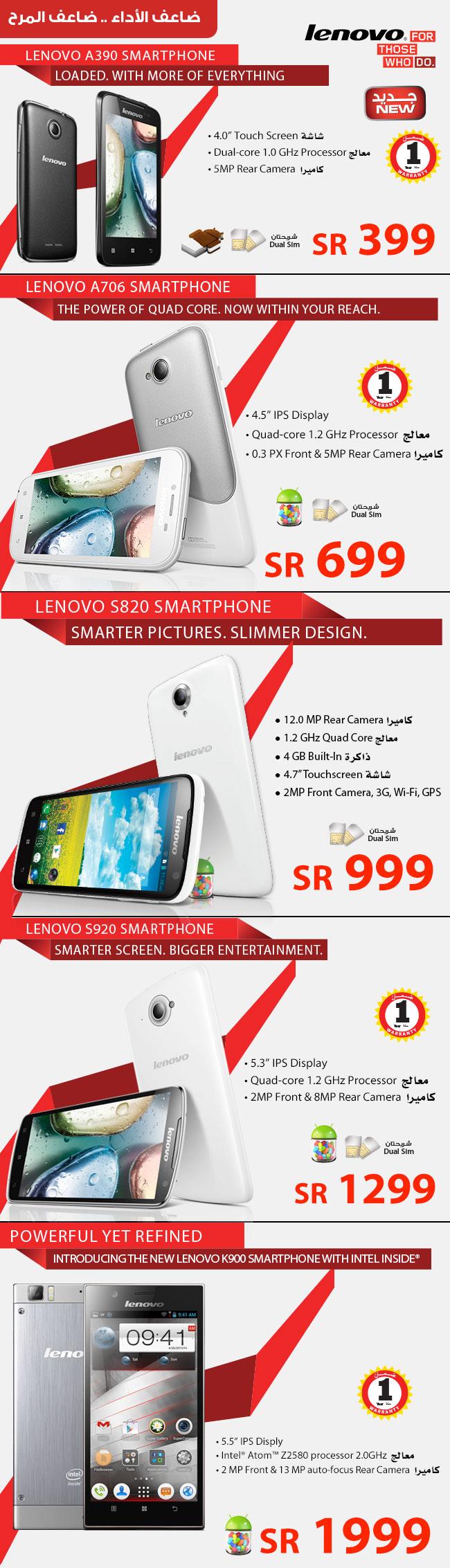 Lenovo Smartphone Price in Saudi Arabia