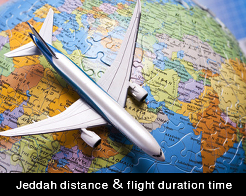 Jeddah distance & flight duration time