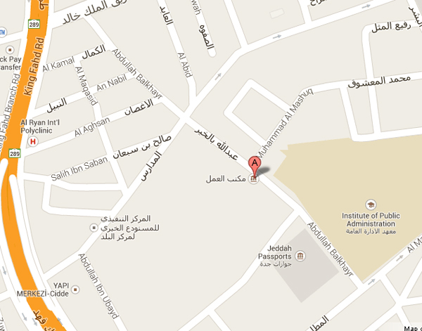 Jeddah Labour Office Map
