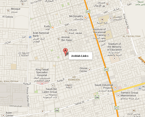 Jeddah Links Location Map