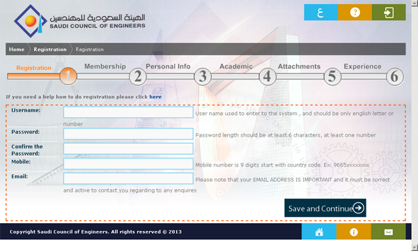 saudi eng sa setup 1 How to Register Engineering degree in Saudi Council of Engineers [Saudieng.sa]