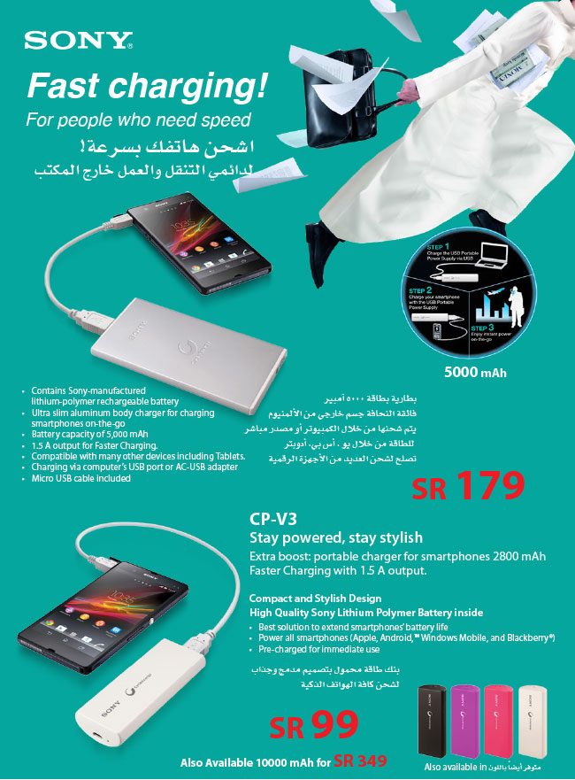 Sony Xperia fast Charger Price